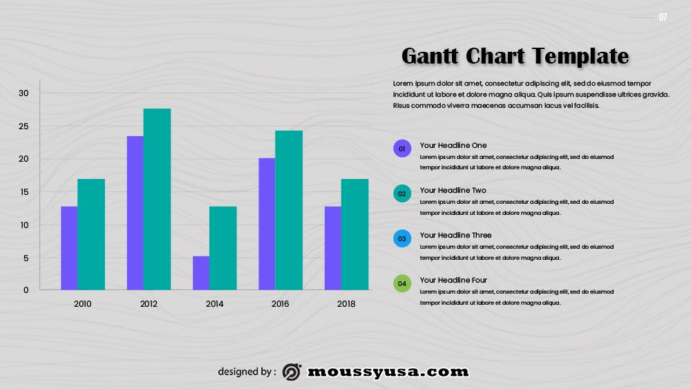 gantt chart free psd template