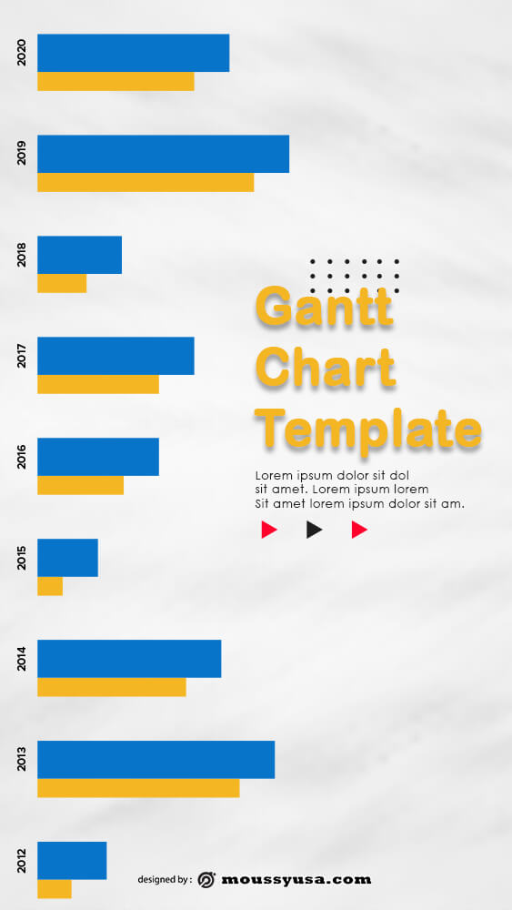 gantt chart template for photoshop