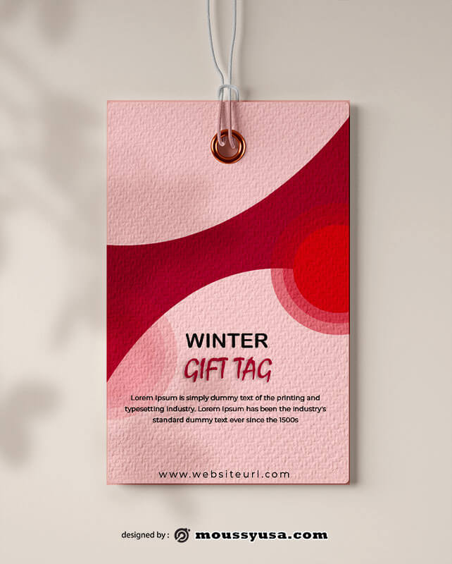 gift tag customizable psd design template