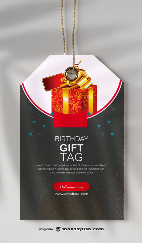 gift tag free download psd