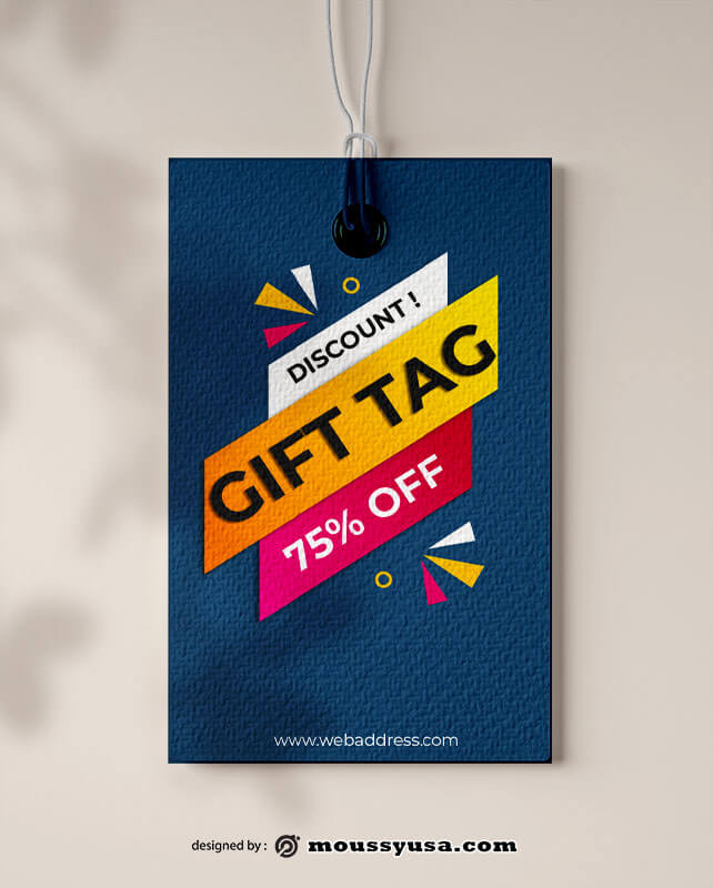gift tag free psd template