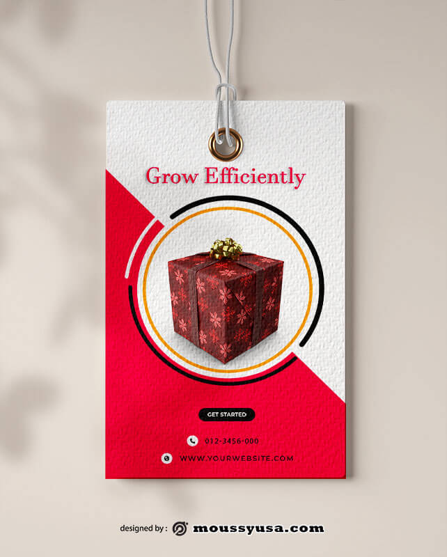 gift tag in photoshop free download