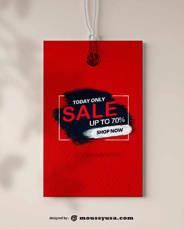 gift tag psd template free