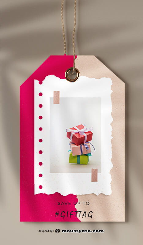 gift tag template for photoshop