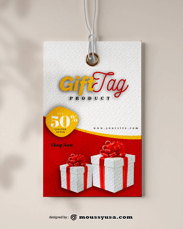 gift tag template free psd