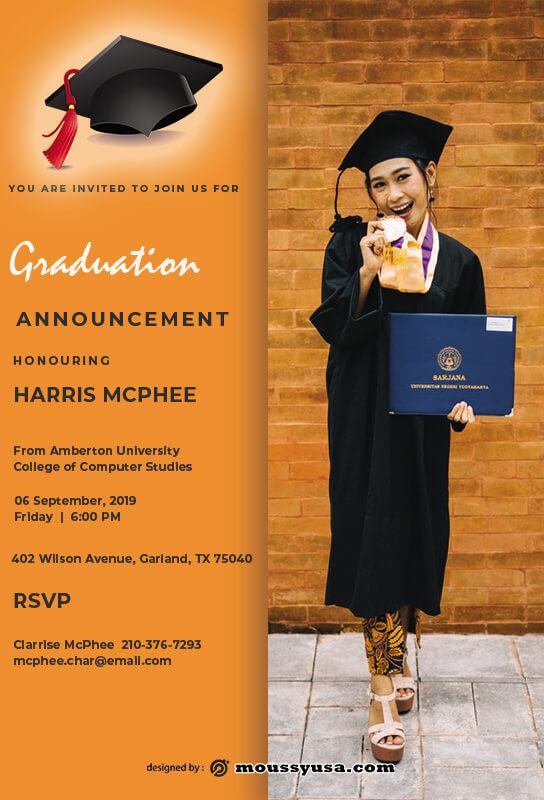 graduation announcement free download psd