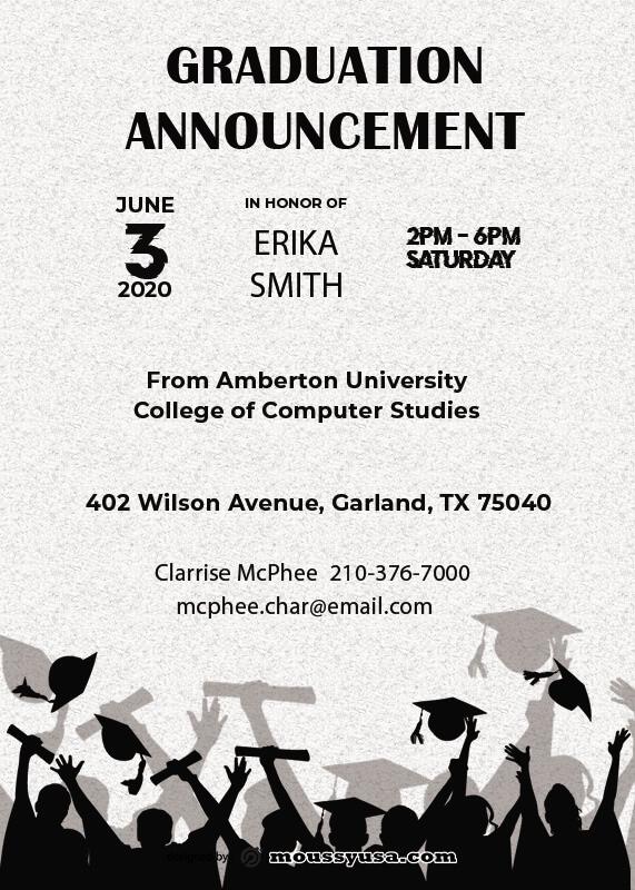 graduation announcement template for photoshop