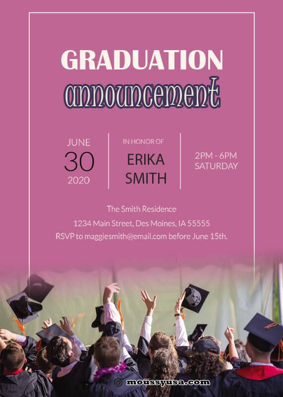 graduation announcement template free psd