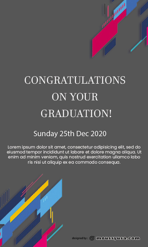 graduation card free download psd