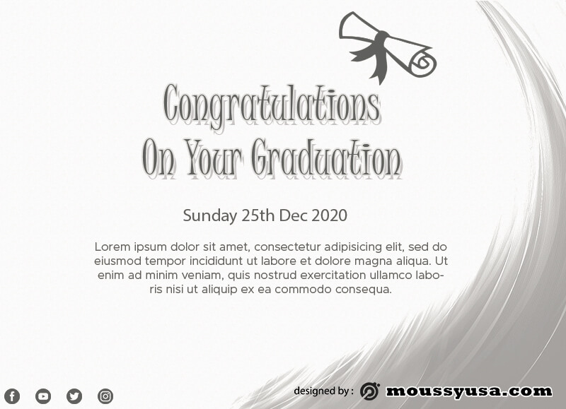 graduation card in photoshop free download