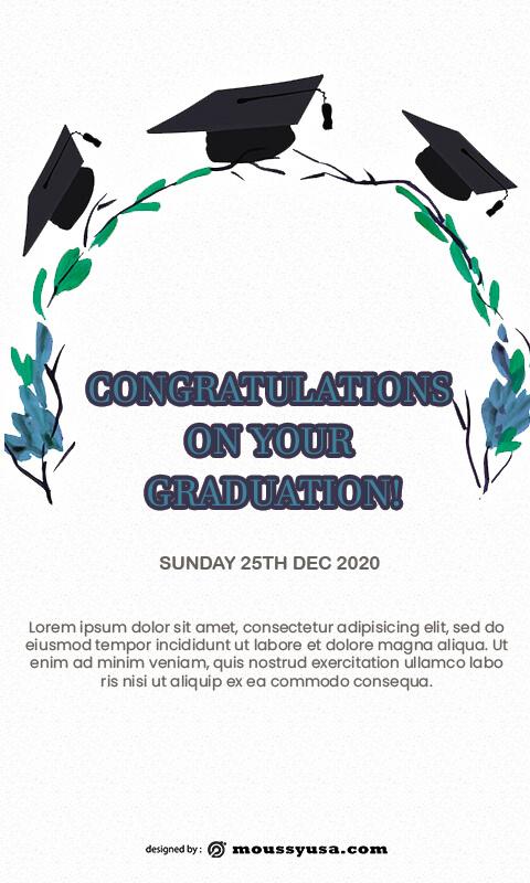 graduation card in psd design
