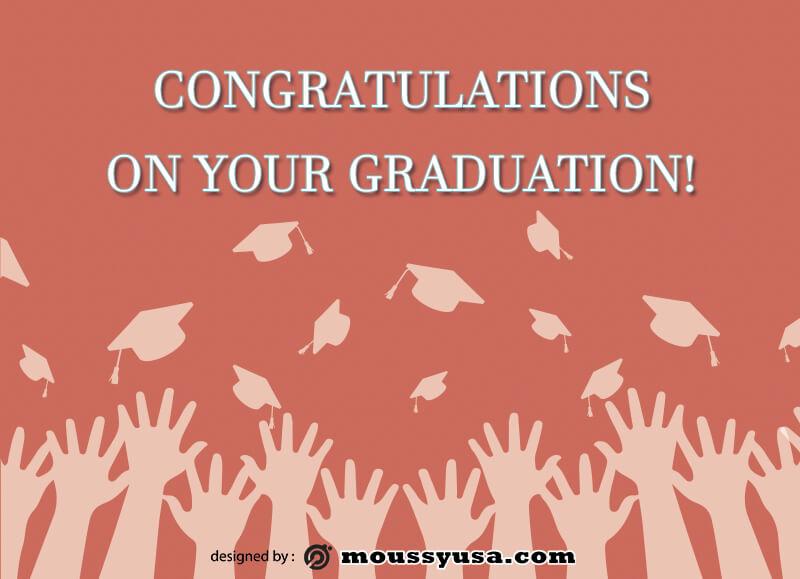 graduation card psd template free