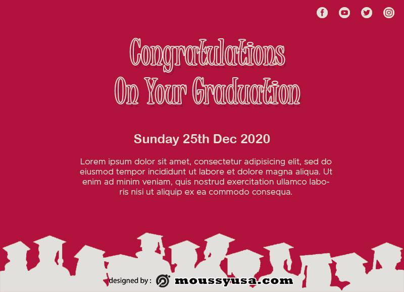 graduation card template for photoshop