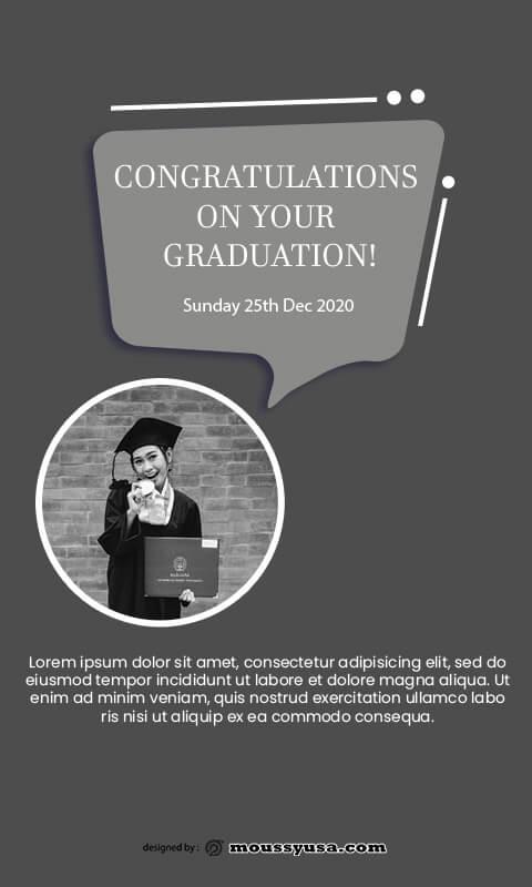 graduation card template free psd