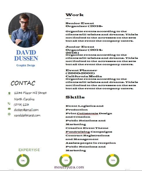graphic design resume customizable word design template