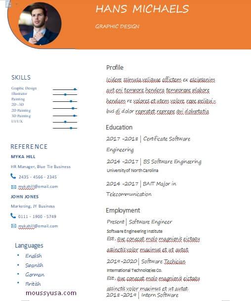 graphic design resume free download word