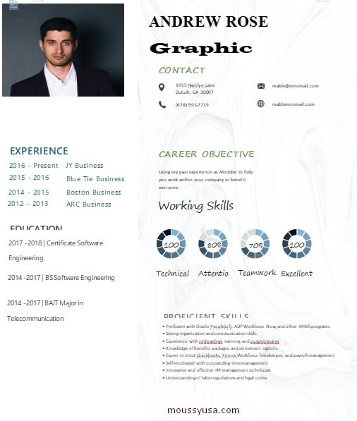 graphic design resume in word free download
