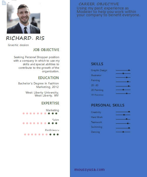 graphic design resume template for word