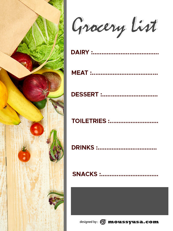 grocery list in photoshop free download