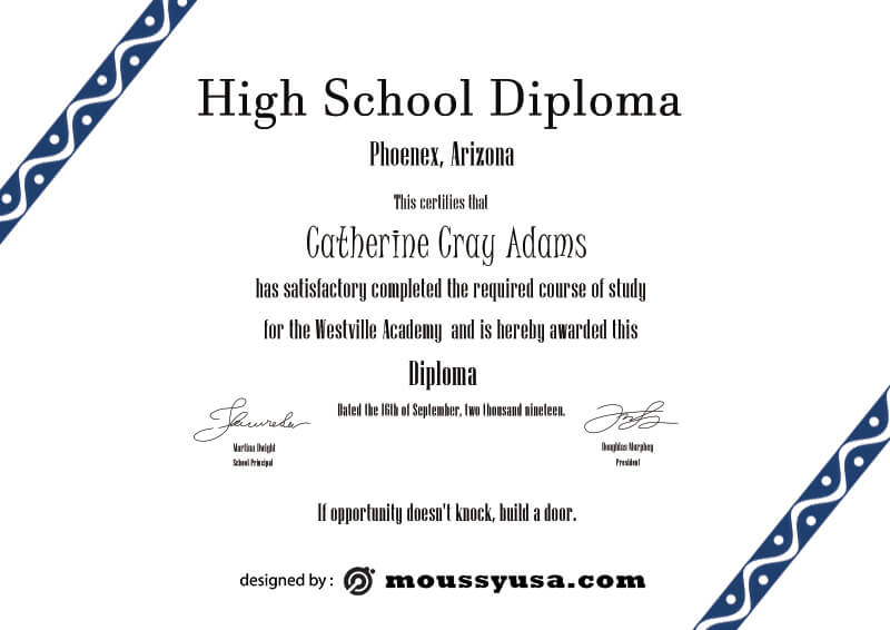 high school diploma free download psd