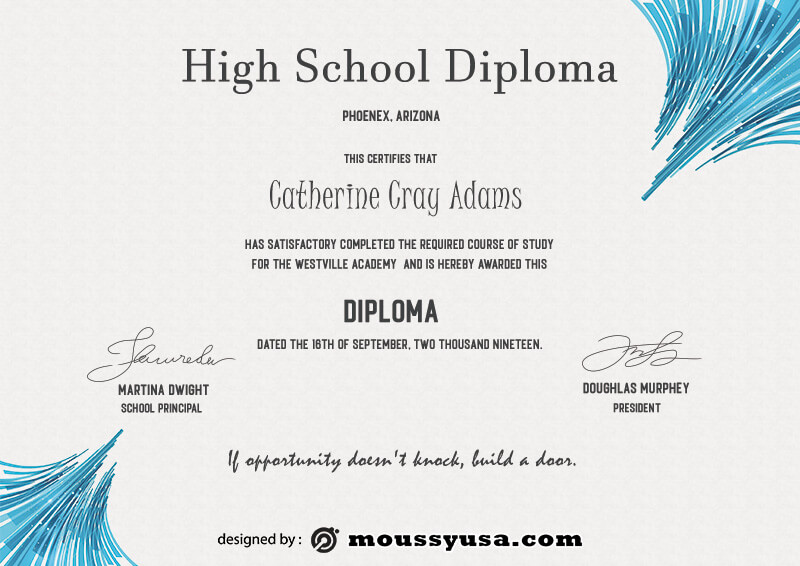 high school diploma in photoshop free download