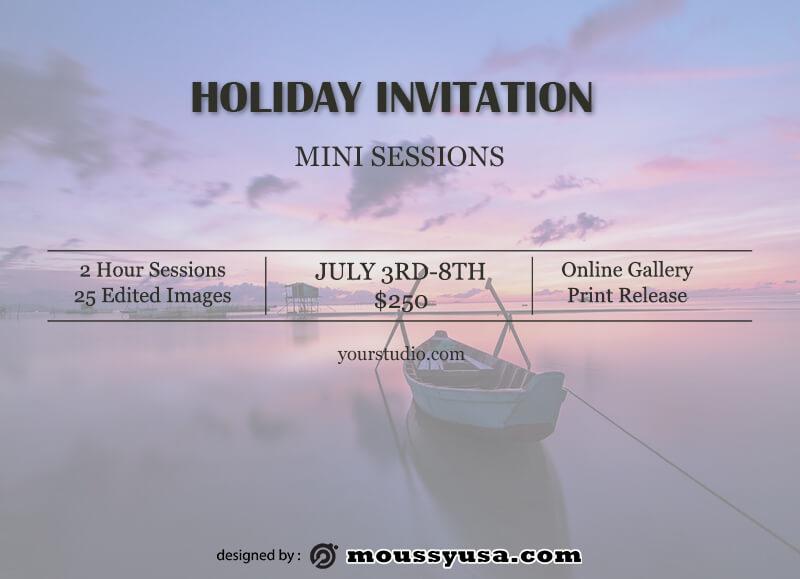 invitation card example psd design