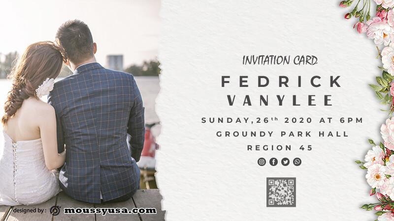invitation card free download psd