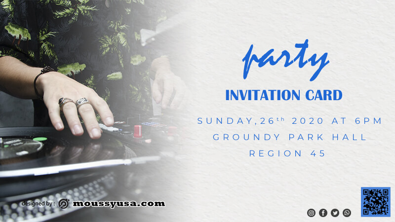 invitation card in photoshop free download