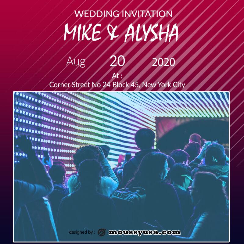 invitation card in photoshop