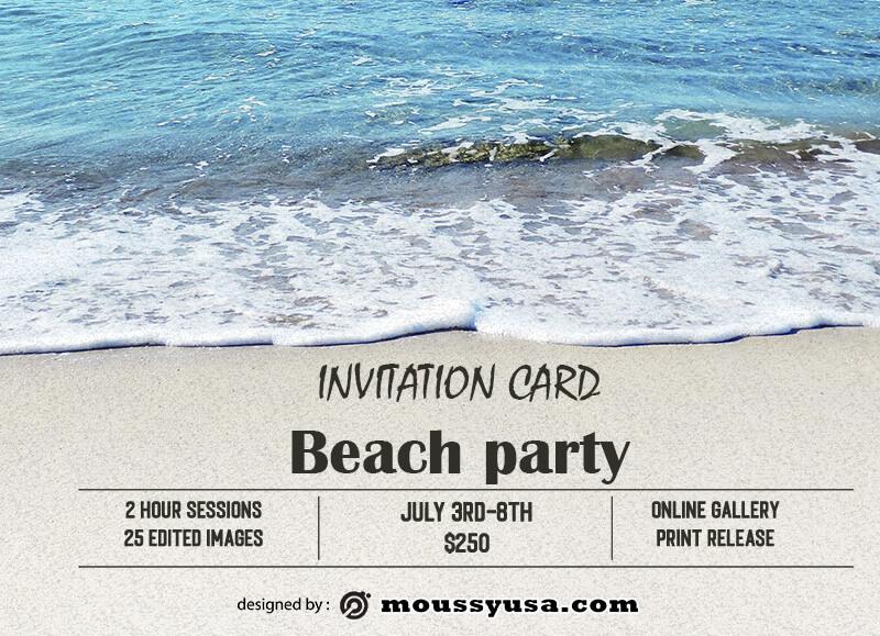 invitation card in psd design