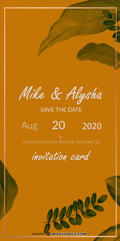 invitation card template for photoshop