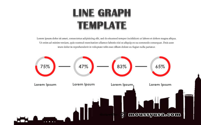 line graph customizable psd design template