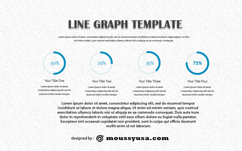 line graph free psd template
