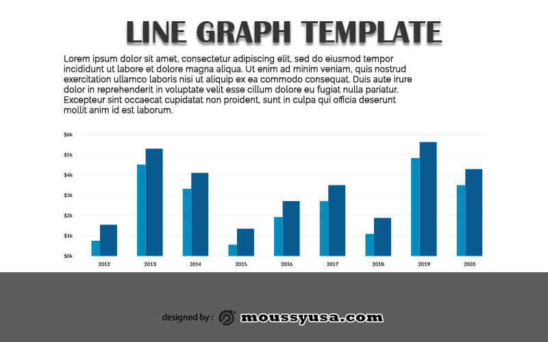 line graph in psd design