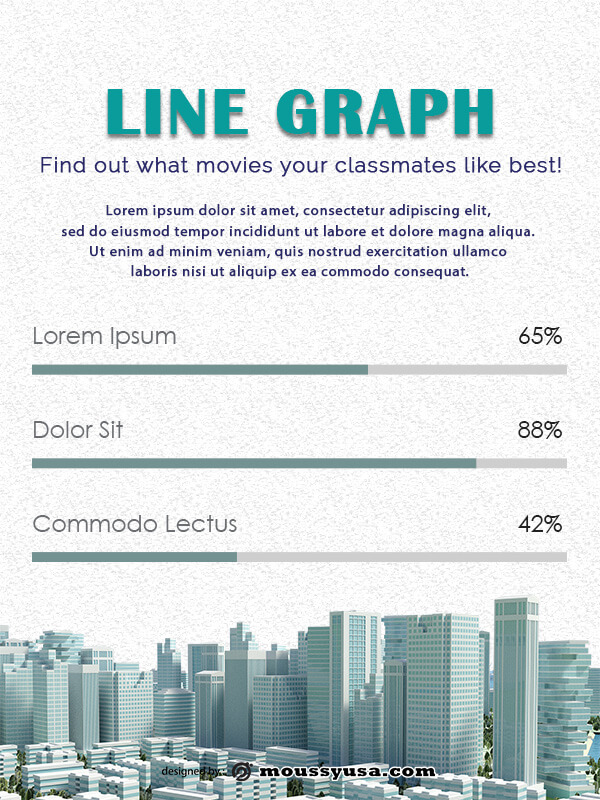 line graph psd template free