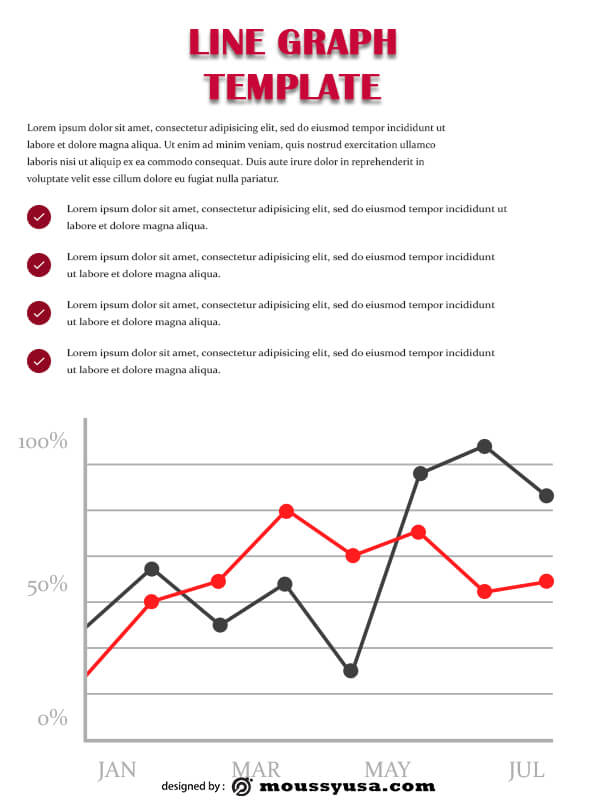 line graph template free psd