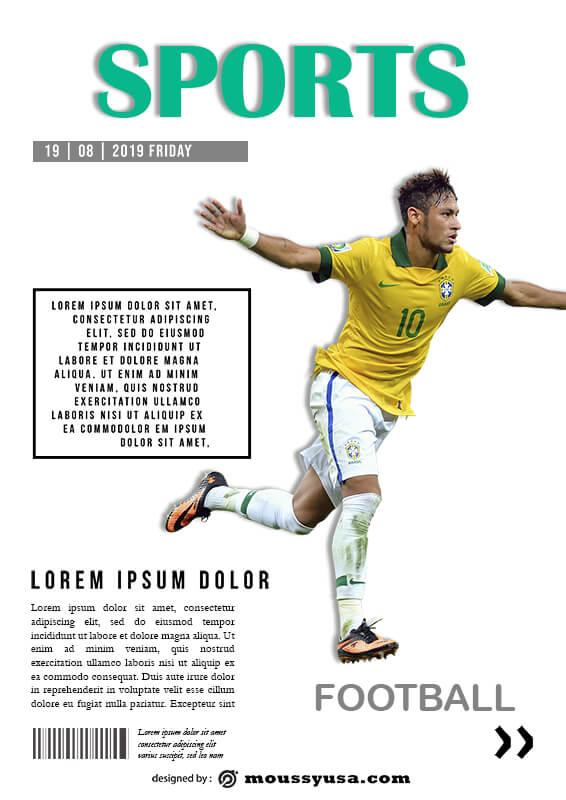 magazine article customizable psd design template
