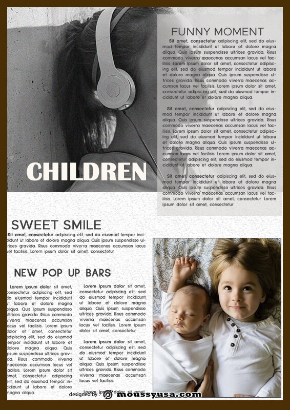 magazine article in photoshop