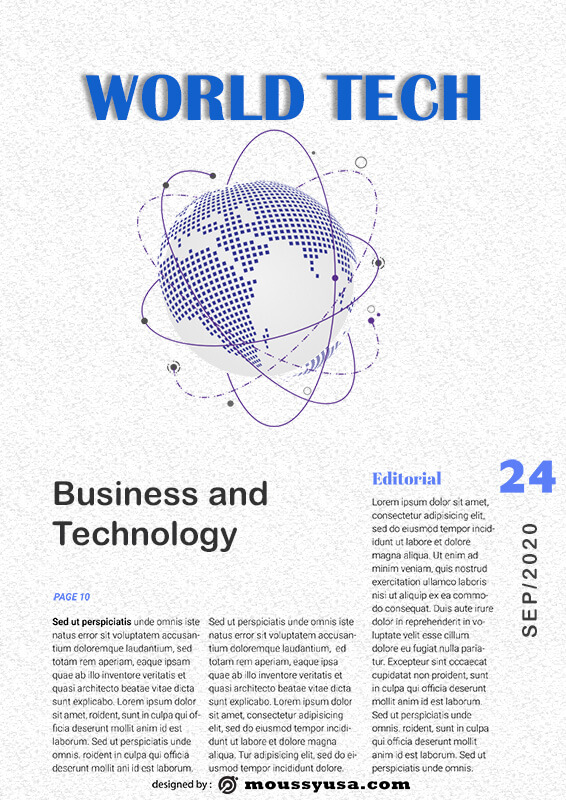 magazine article psd template free