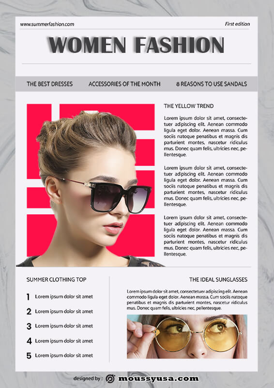 magazine article template for photoshop