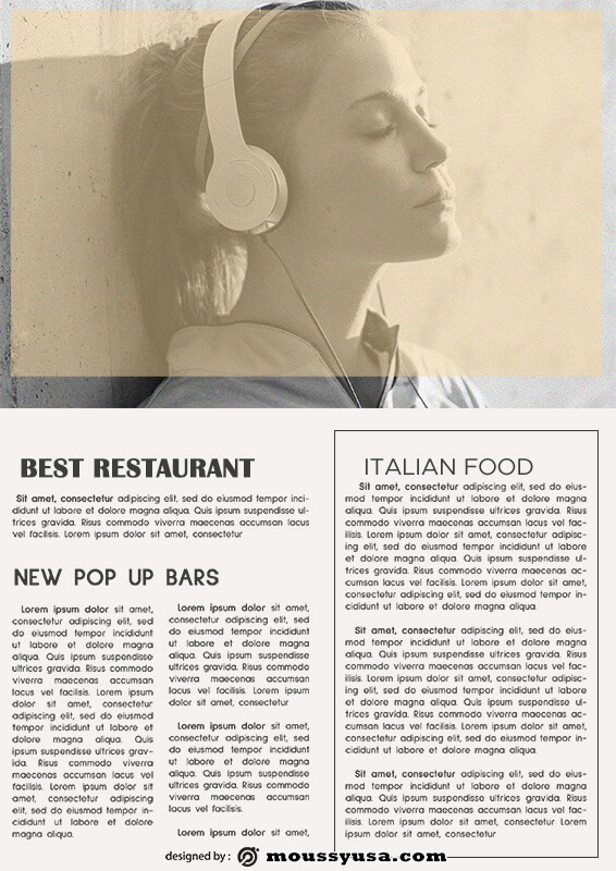magazine article template free psd
