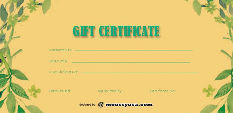 massage gift certificate example psd design