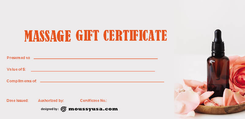 massage gift certificate free download psd