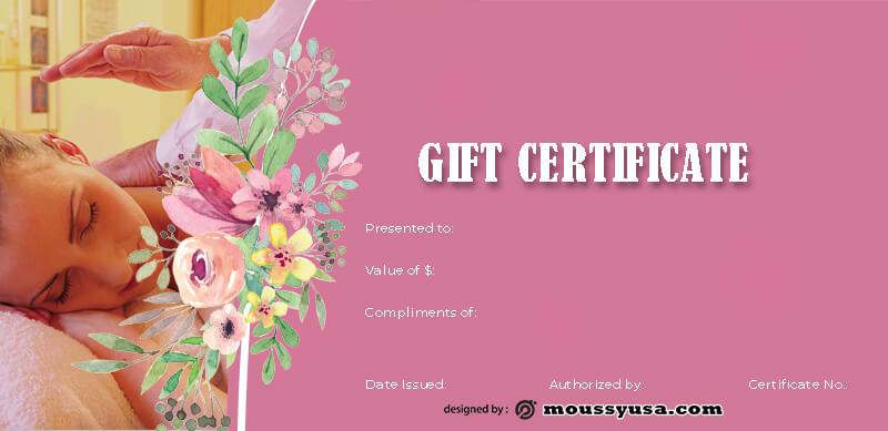 massage gift certificate psd template free