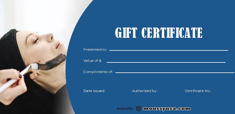 massage gift certificate template free psd