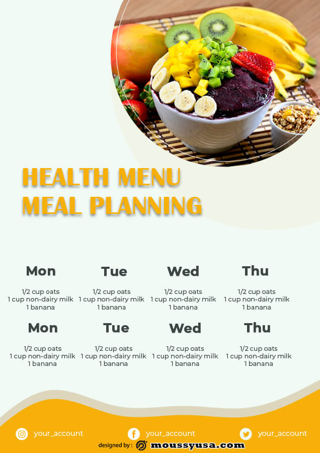 meal planning free download psd