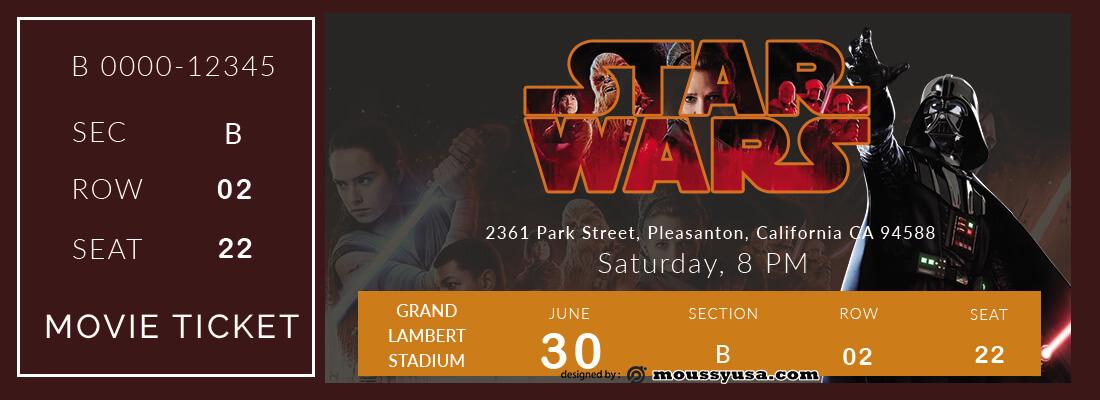 movie ticket in photoshop