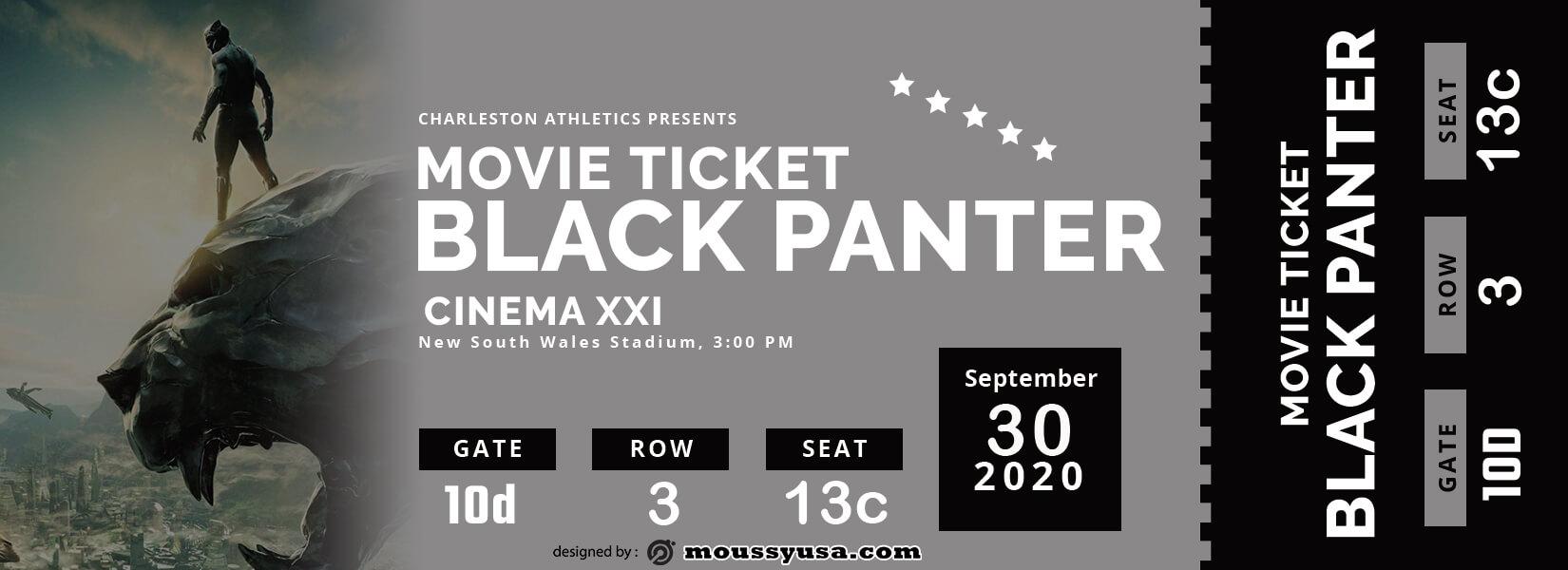 movie ticket template free psd