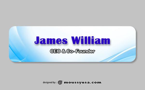 name tag customizable psd design template