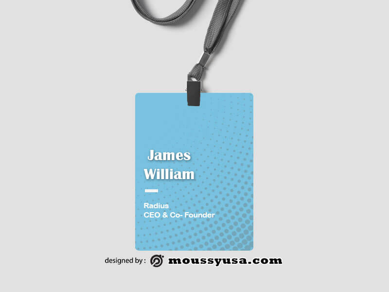 name tag example psd design